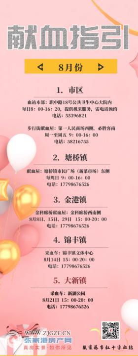 张家港市红十字血站提醒献血的市民:这份献血指引先收好