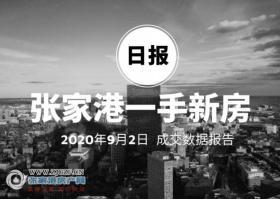 2020年9月2日��家港新房成交�����50套 暨�湖苑(世茂九溪墅)成交12套位列第一