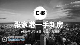 2020年9月11日��家港新房成交�����11套 �Z����庭(中�E世界城)成交3套,位居第一