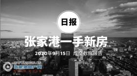 2020年9月15日��家港新房成交�����112套 �Z����庭(中�E世界城)成交27套,位居第一