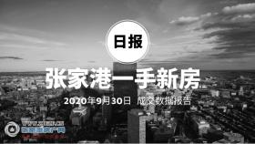 2020年9月30日��家港新房成交�����197套 �I湖名邸( 金茂府系)成交67套,位居第一