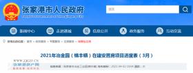 关于2021年冶金园(锦丰镇)在建安置房项目进度表(3月)进展来了