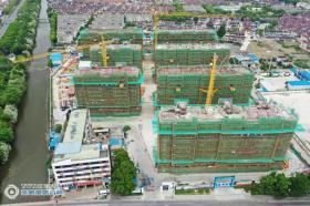 张家港高铁新城东南片区张地2019-C008-A地块安置房项目主体结构全部顺利封顶