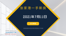 2021年7月11日张家港新房成交数据总计11套