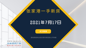 2021年7月17日张家港新房成交数据总计13套
