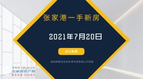2021年7月20日张家港新房成交数据总计61套,绿智科技中心成交21套,位居第一!