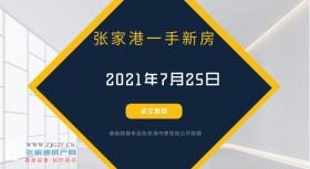 2021年7月25日张家港新房成交数据总计12套