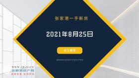 2021年8月25日张家港新房成交数据总计36套