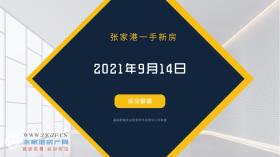 2021年9月14日张家港新房成交数据总计28套