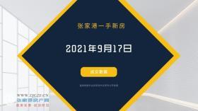 2021年9月17日张家港新房成交数据总计17套,广场二村成交3套,位居第一