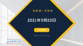 2021年9月20日张家港新房成交数据总计2套