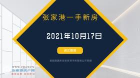 2021年10月17日张家港新房成交数据总计7套